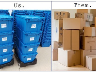 "Six Reasons To Say ""No"" To Cardboard & ""Yes"" To Plastic Moving Boxes"