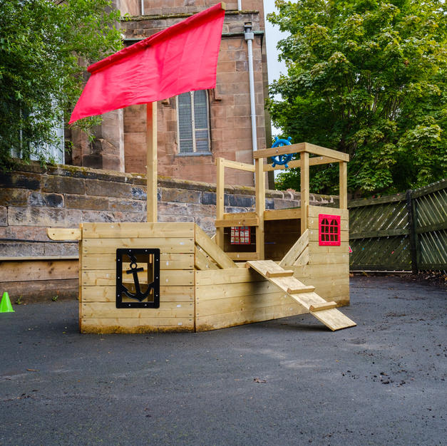 Pirate galleon climbing frame