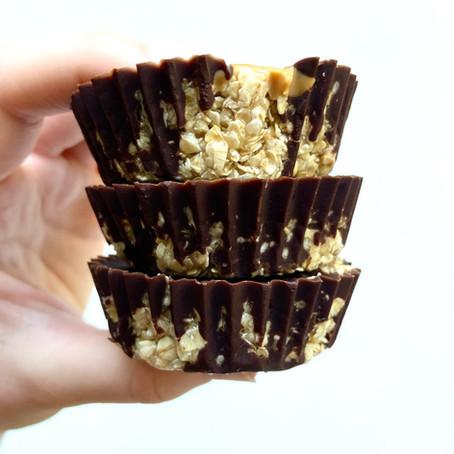 Peanut Butter Chocolate Oat Cups