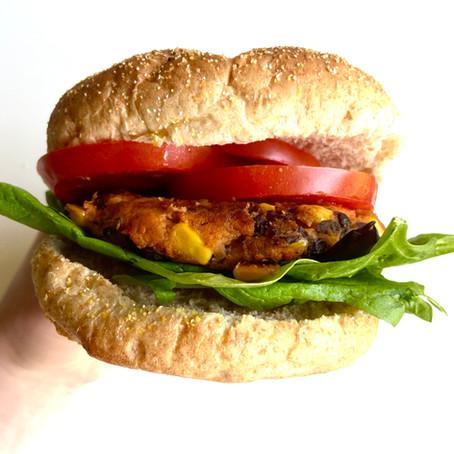 VEGAN Black Bean and Sweet Potato Burgers