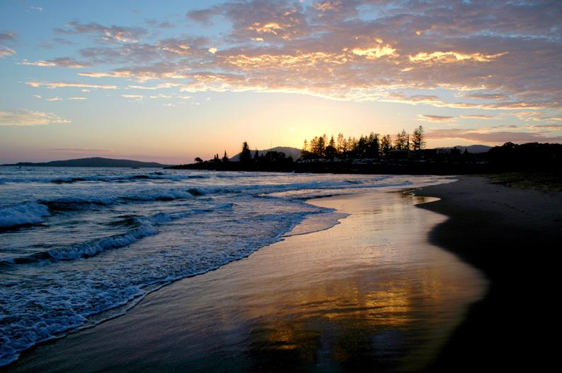 Beach at South West Rocks at Sunrise