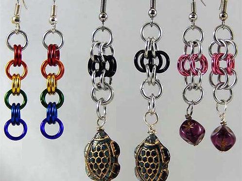 Vintage Bead Accented Earrings
