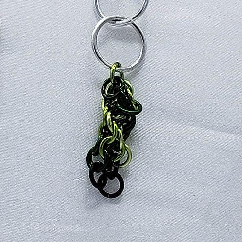 Green Twist Keychain
