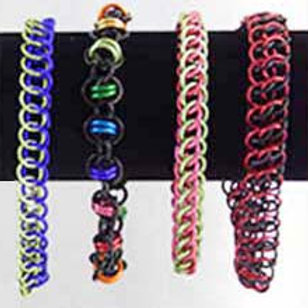 Half Persian and Orbital Weave Bracelets