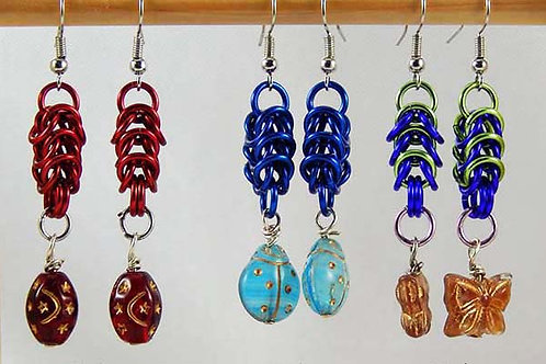 Byzantine Earrings with Vintage Beads