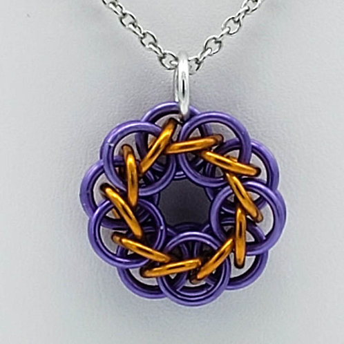 Lavender and Gold Pendant