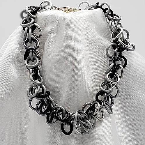 Gray and Black Shaggy Loop Set