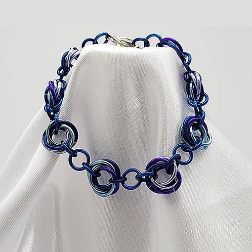 Mobius Bracelet Set in Ocean Shades