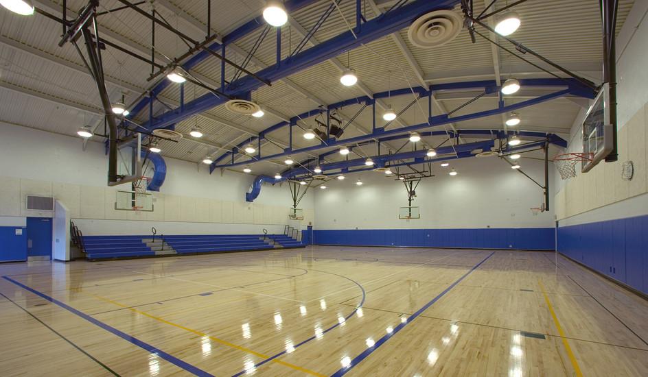 ALSD_ALJHS_Mod, Shade & Gym_Gym Interior