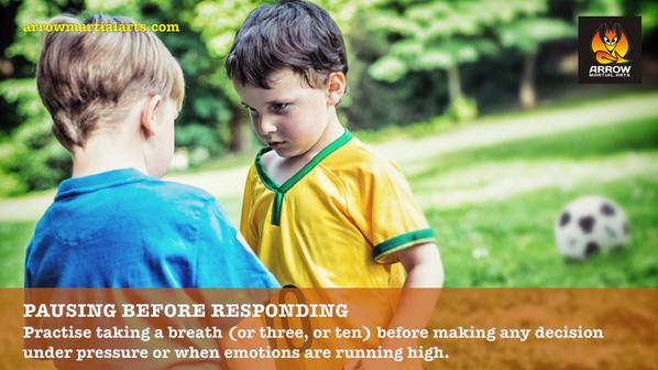 Pausing before responding