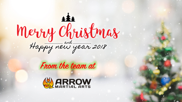 Christmas Arrow.Merry Christmas And Happy New Year 2018 From Arrow Martial Arts