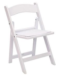 Kids White Resin Folding Chair