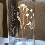 Vase/photophore graminées 24€