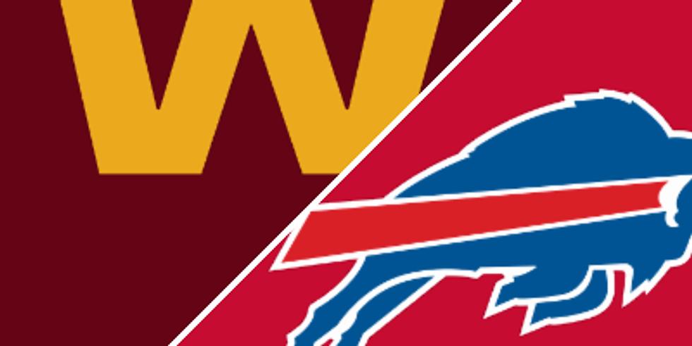 Buffalo Bills Vs. Washington Sunday Sept 26th 11am