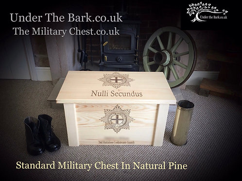 The Natural Pine Personalised Military Chest