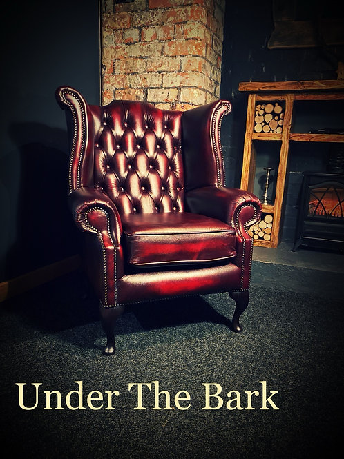 Traditional Leather Mess Chair Red