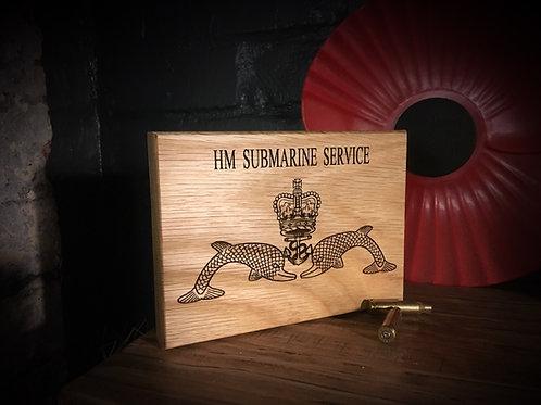 Small Oak Military Plaque