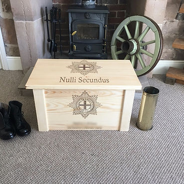 Under The Bark Natural Pine Military Chest