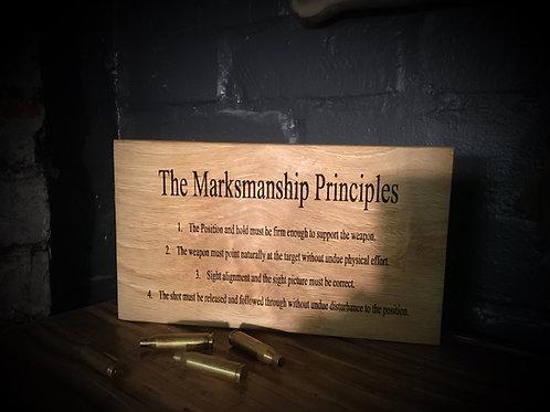 Marksmanship Principles Plaque