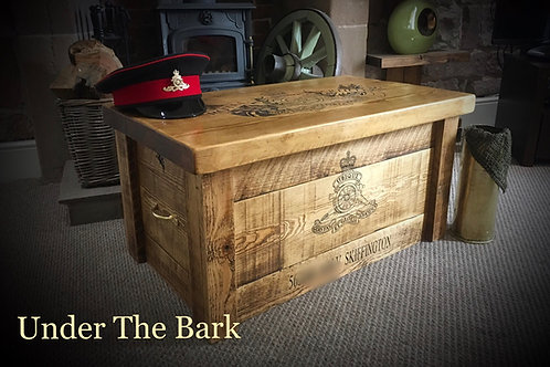 The Rustic Pine Personalised Military Chest