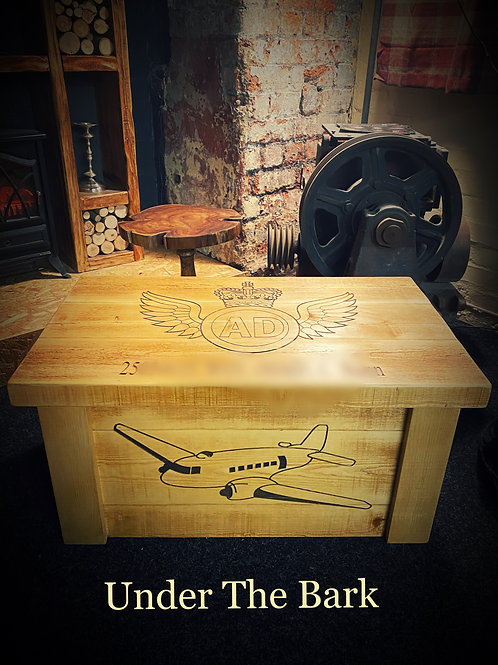 The Antique Pine Personalised Military Chest