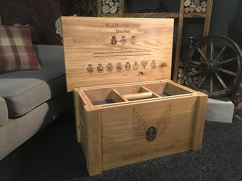 Solid Oak Personalised Military Chest