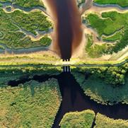 28. Lumière rasante sur la digue Rousseau