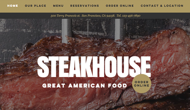Restaurante website templates – Restaurante de carnes