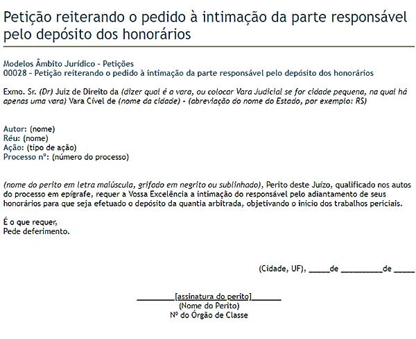 modelo de petição 4