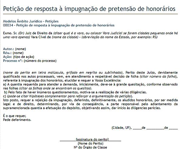 modelo de petição 11