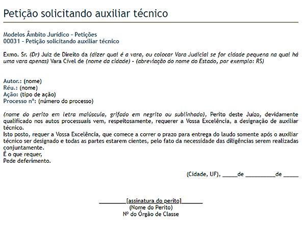 modelo de petição 12