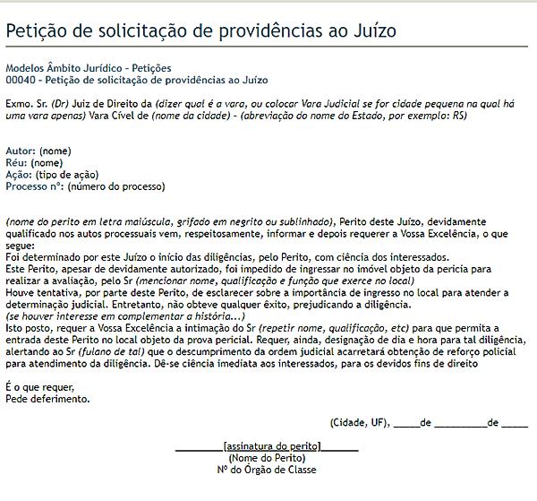 modelo de petição 7
