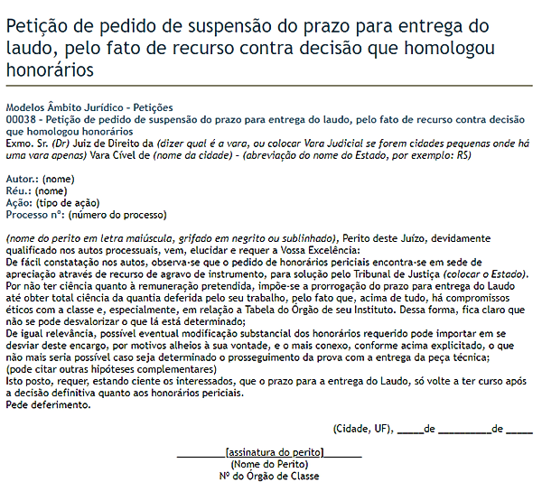 modelo de petição 9