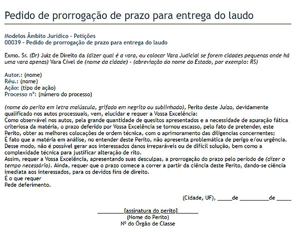 modelo de petição 8
