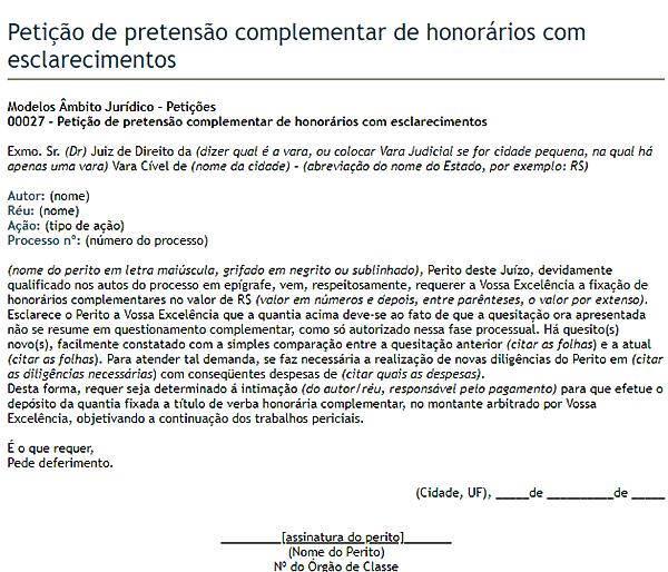 modelo de petição 3