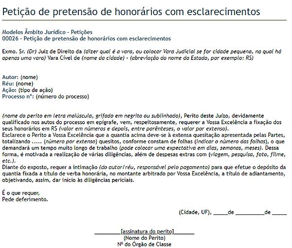 modelo de petição 2