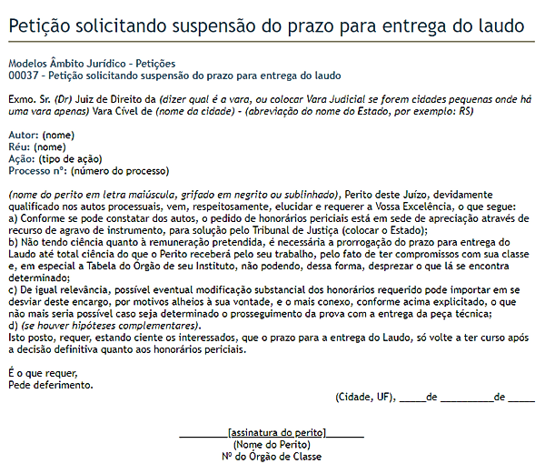 modelo de petição 10