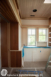 Interior woodwork during construction