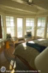 full lenght bow window in master bedroom  Dietsche + Dietsche