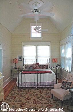 Cottage bedroom Dietsche + Dietsche Architects PC