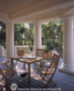 Porches extend the living space of the house into the outdoors.