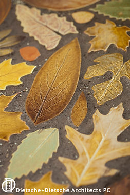 Custom tile reproduces leaves from native carolnia trees