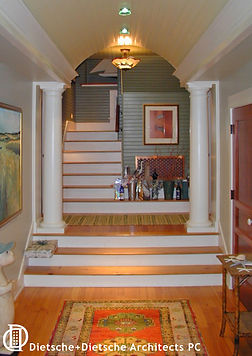 Shingle Style interior detail  Dietsche + Dietsche