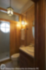wood panelled bath  Dietsche + Dietsche