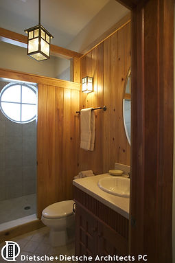 wood panelled bath  Dietsche + Dietsche