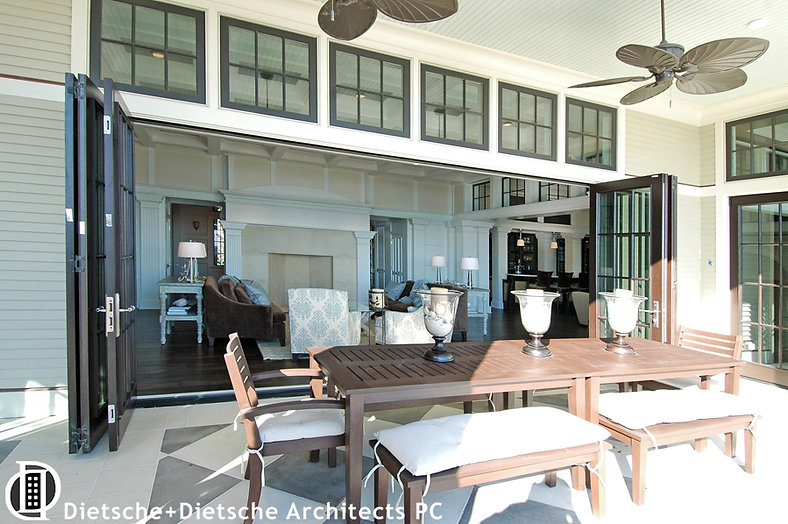 Caribbean Dream, Dietsche + Dietsche Architects, North CarolinaThe living room opens into an outdoor second dining room.