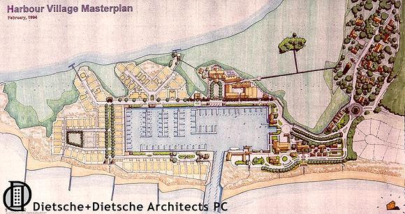 Harbour Village, Bald Head Island, North Carolina, Chuck Dietsche PlannerHarbour Village Masterplann