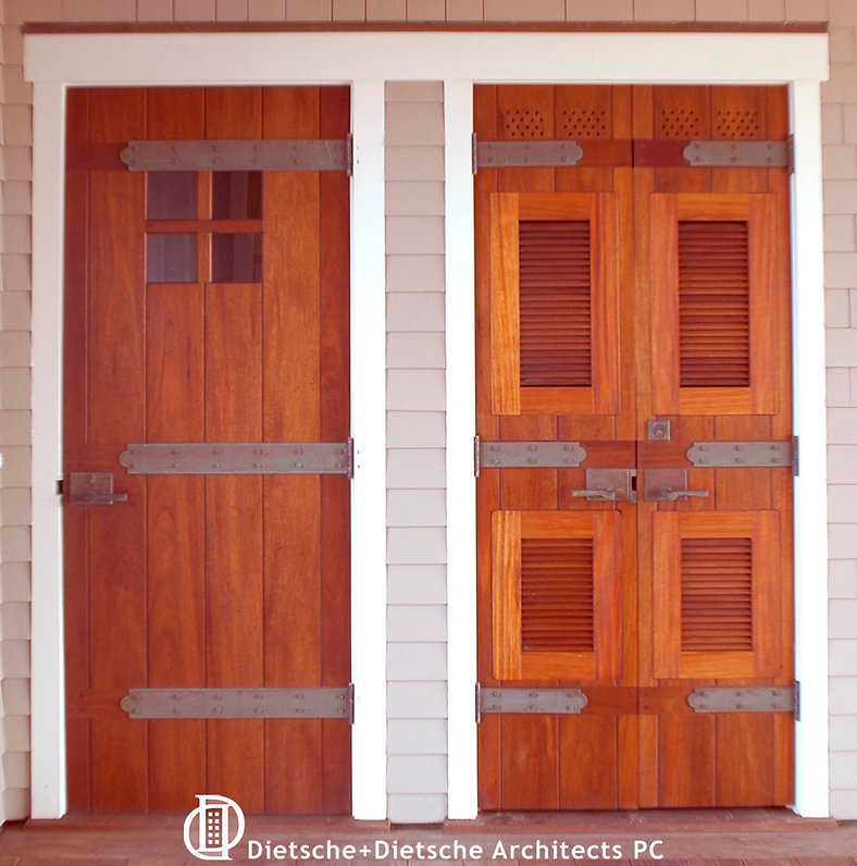 Wood paneled front doors have roots in medieval castles