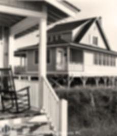 Carolina coastal style creates harmony and pleasing variety among the cottages.