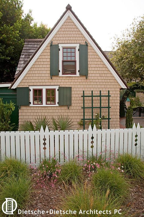 Garage is a storybook cottage